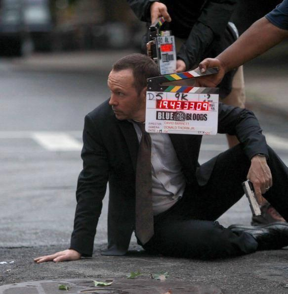 Donnie Wahlberg on Set