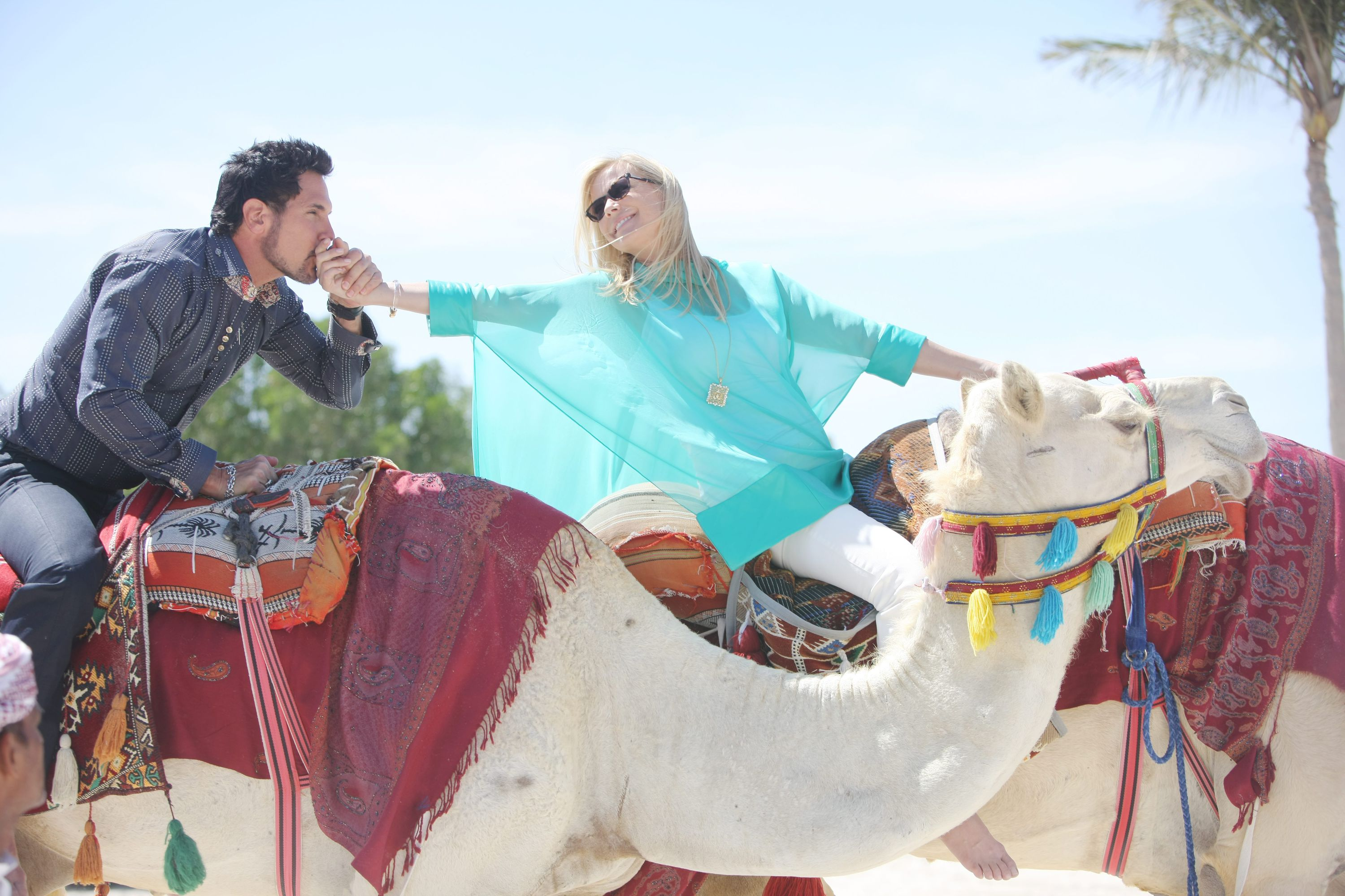 Bill and Brooke Ride Camels in Dubai