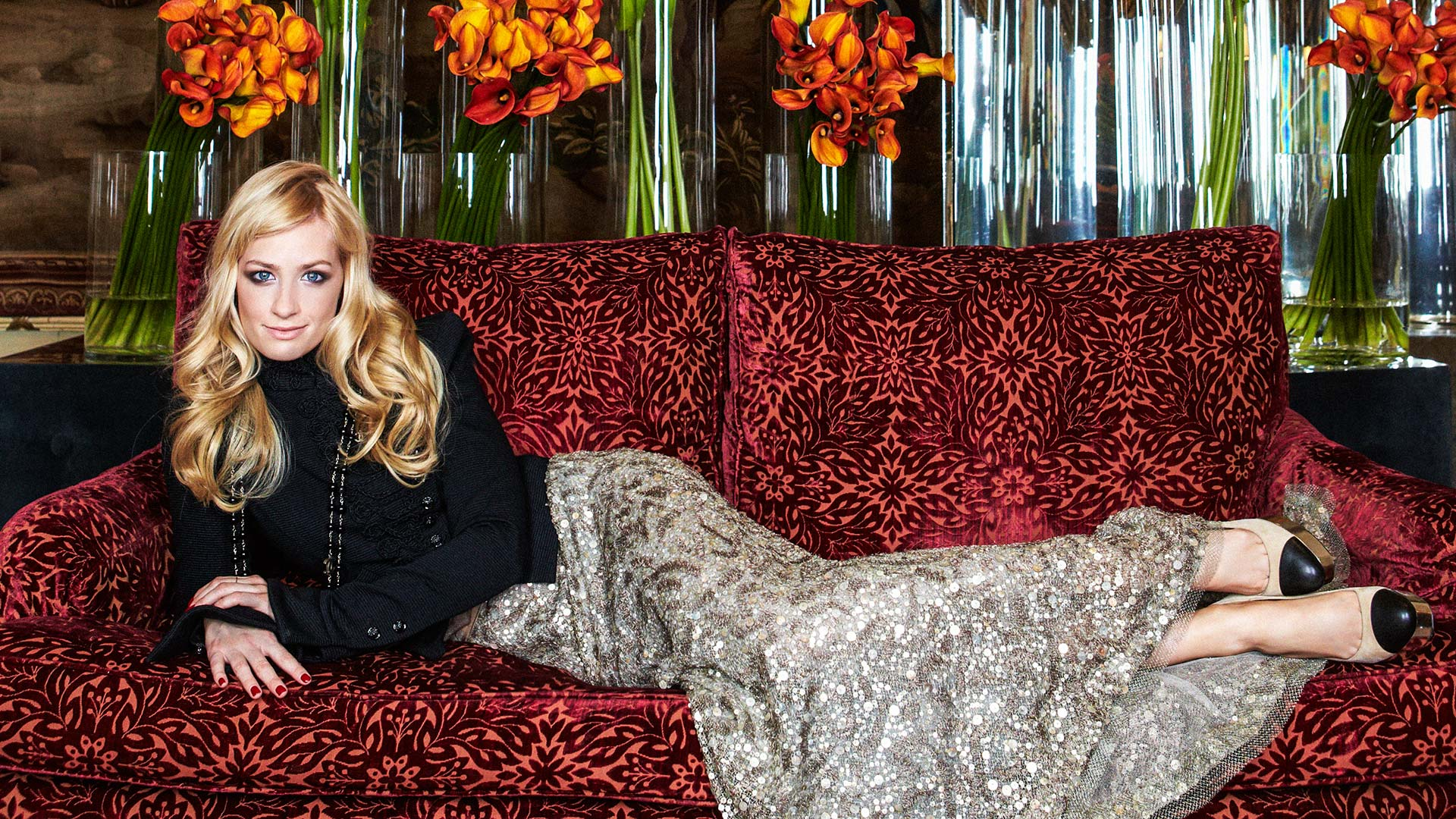 Beth Behrs lounges in style