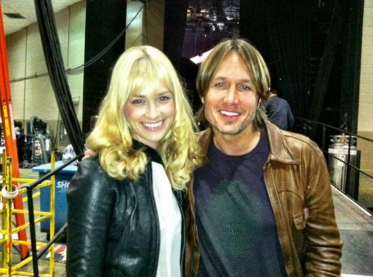 2 Broke Girls Star Beth Behrs at the ACMs