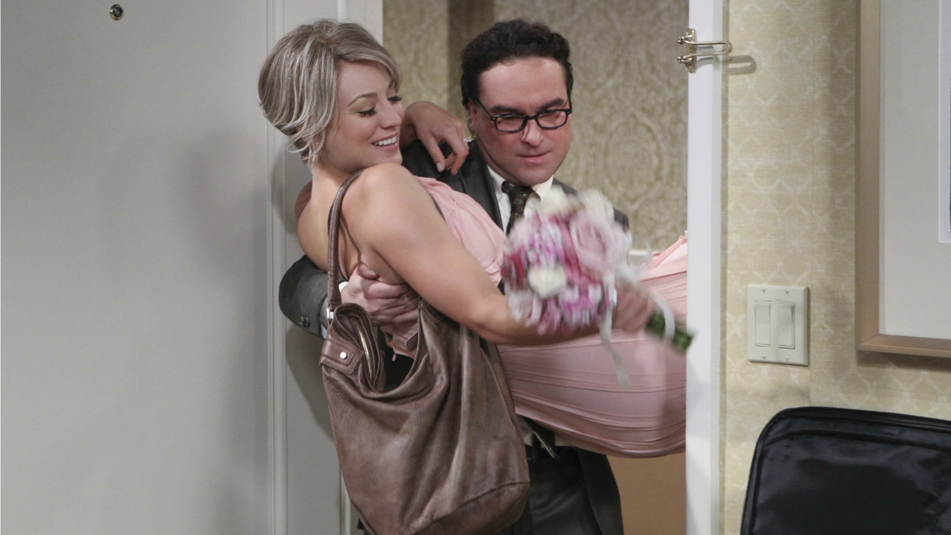1. We cried when Penny and Leonard celebrated their impromptu elopement