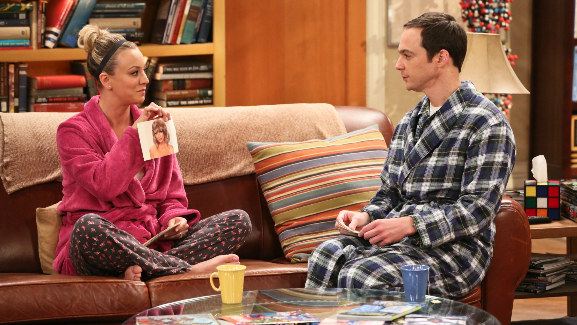 Penny quizzes Sheldon on pop-culture iconography.