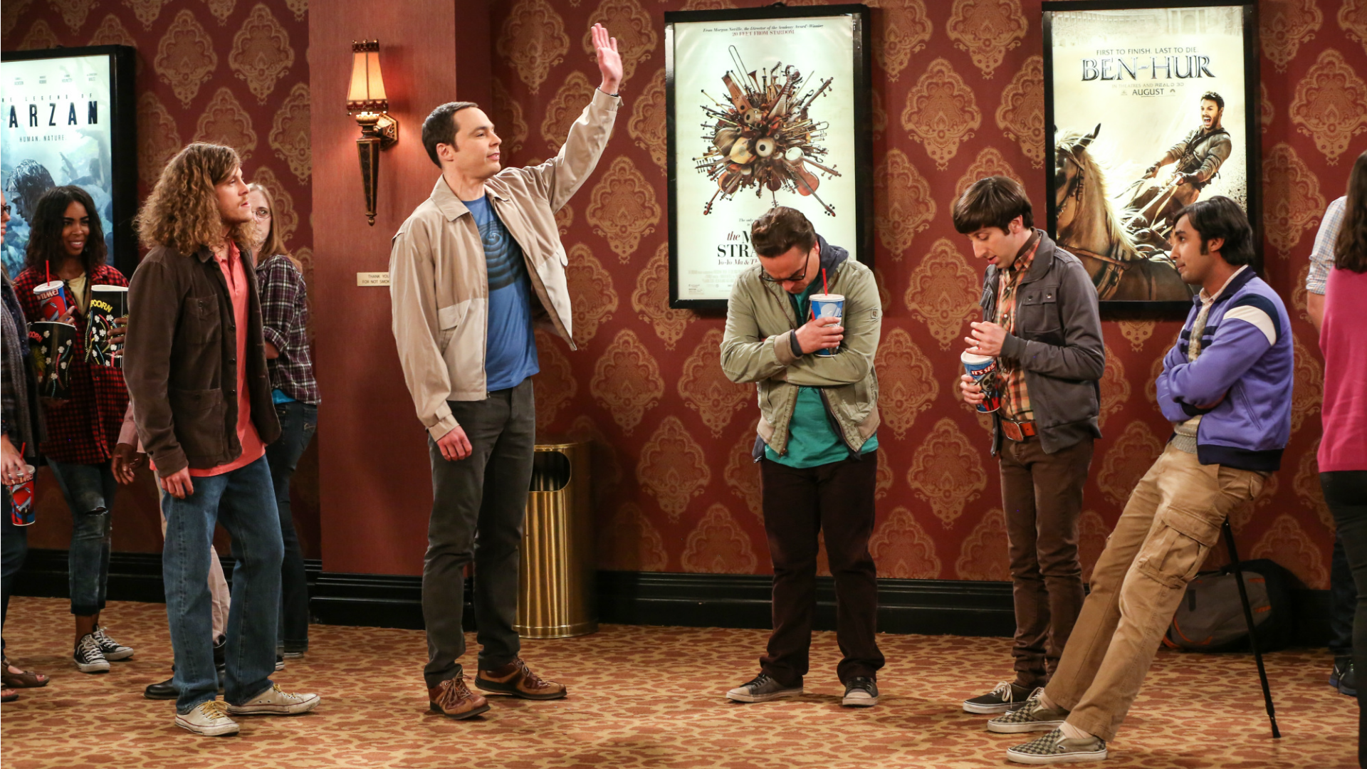 Sheldon embarrasses his friends after an in-line altercation.