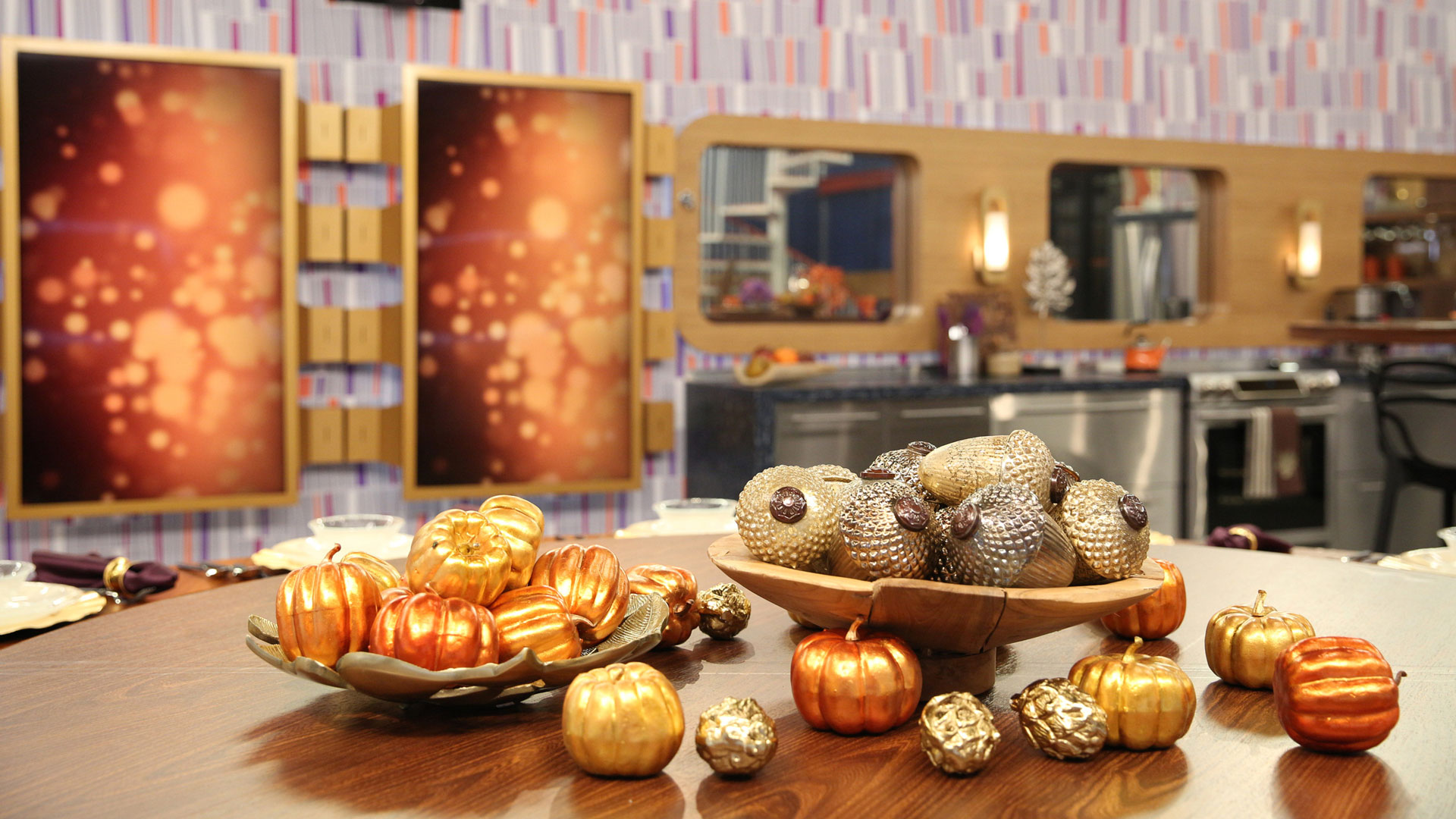 The Houseguests might not be able to visit a pumpkin patch, but there's a bushel of faux squash in the kitchen.