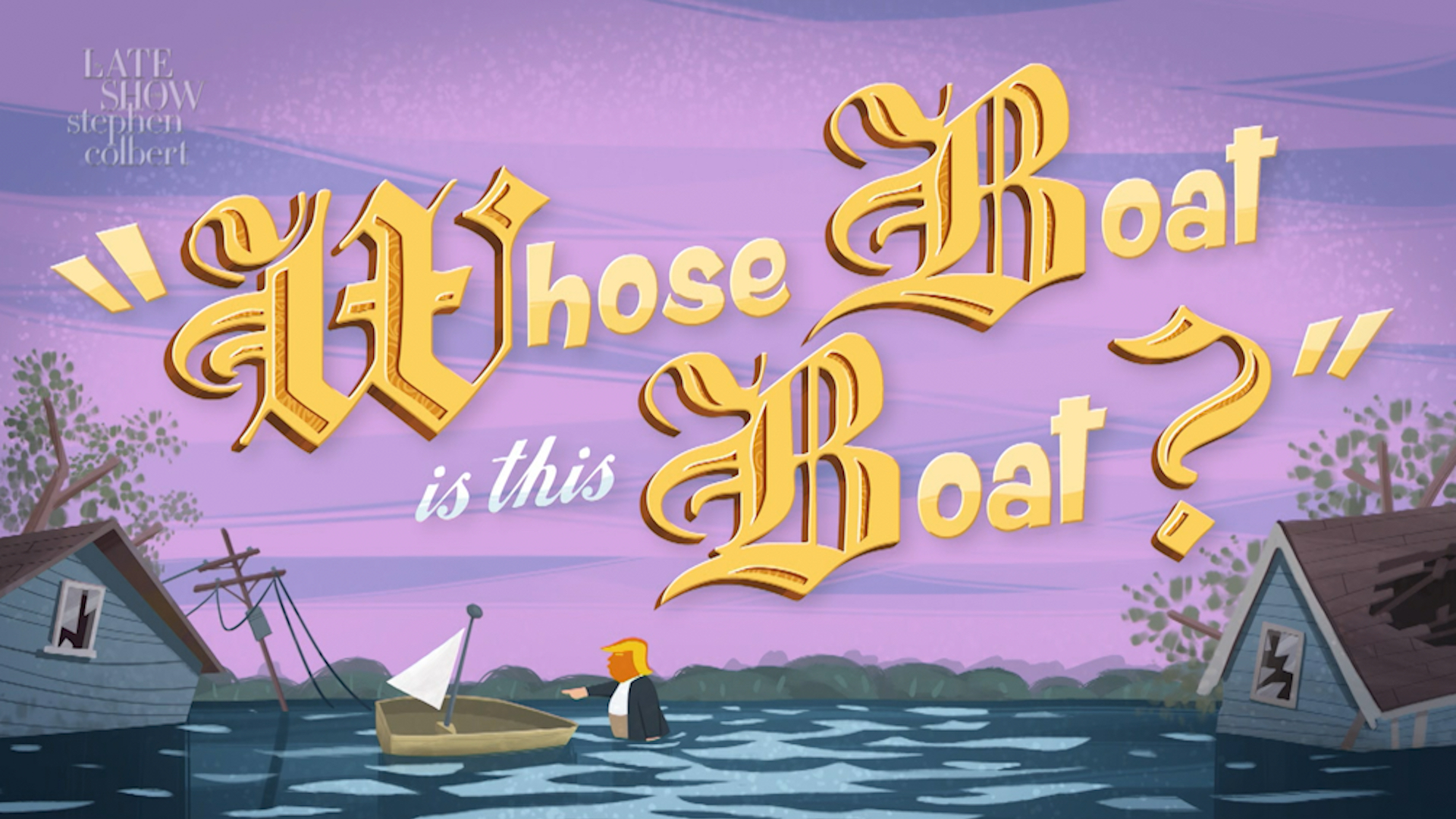Join Colbert And Help Hurricane Victims By Watching 'Whose Boat Is This Boat?'