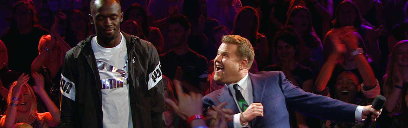 Usain Bolt James Corden Destroy Each Other In Drop The Mic