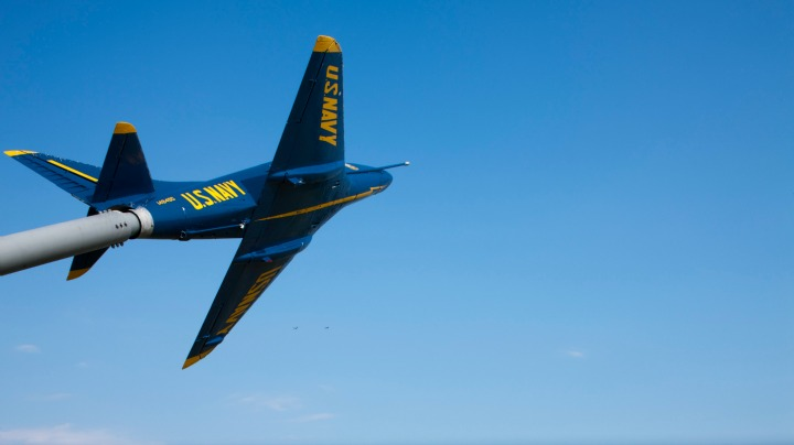 There are only 17 officers in the Blue Angels each year.