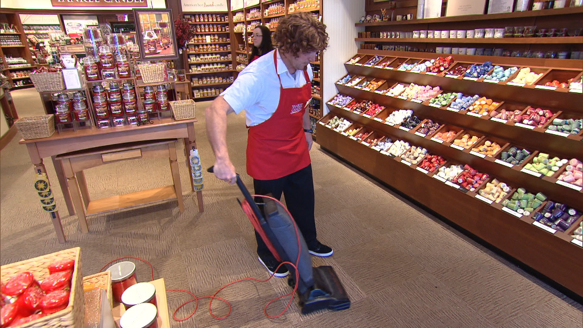 Vacuuming the Store