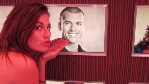 Rachel Blows a Kiss