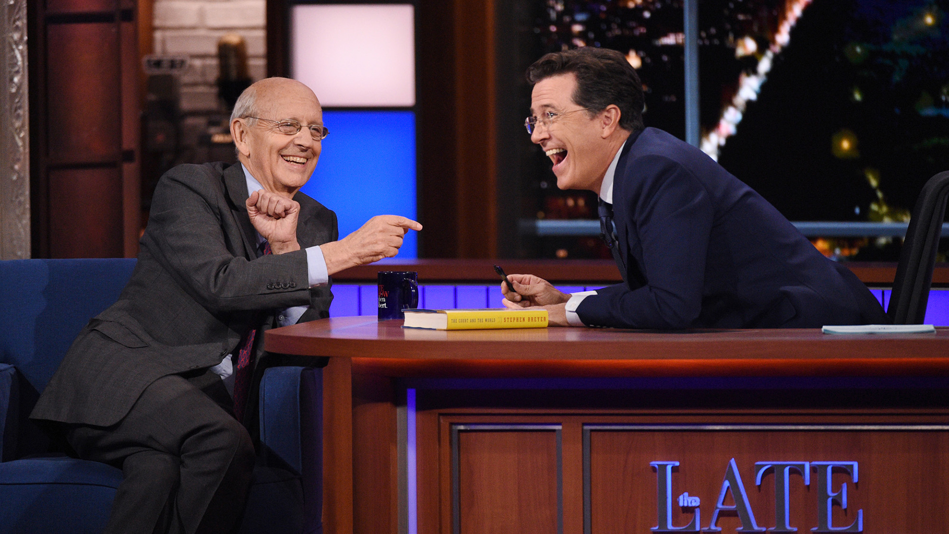 Stephen Breyer and Stephen Colbert