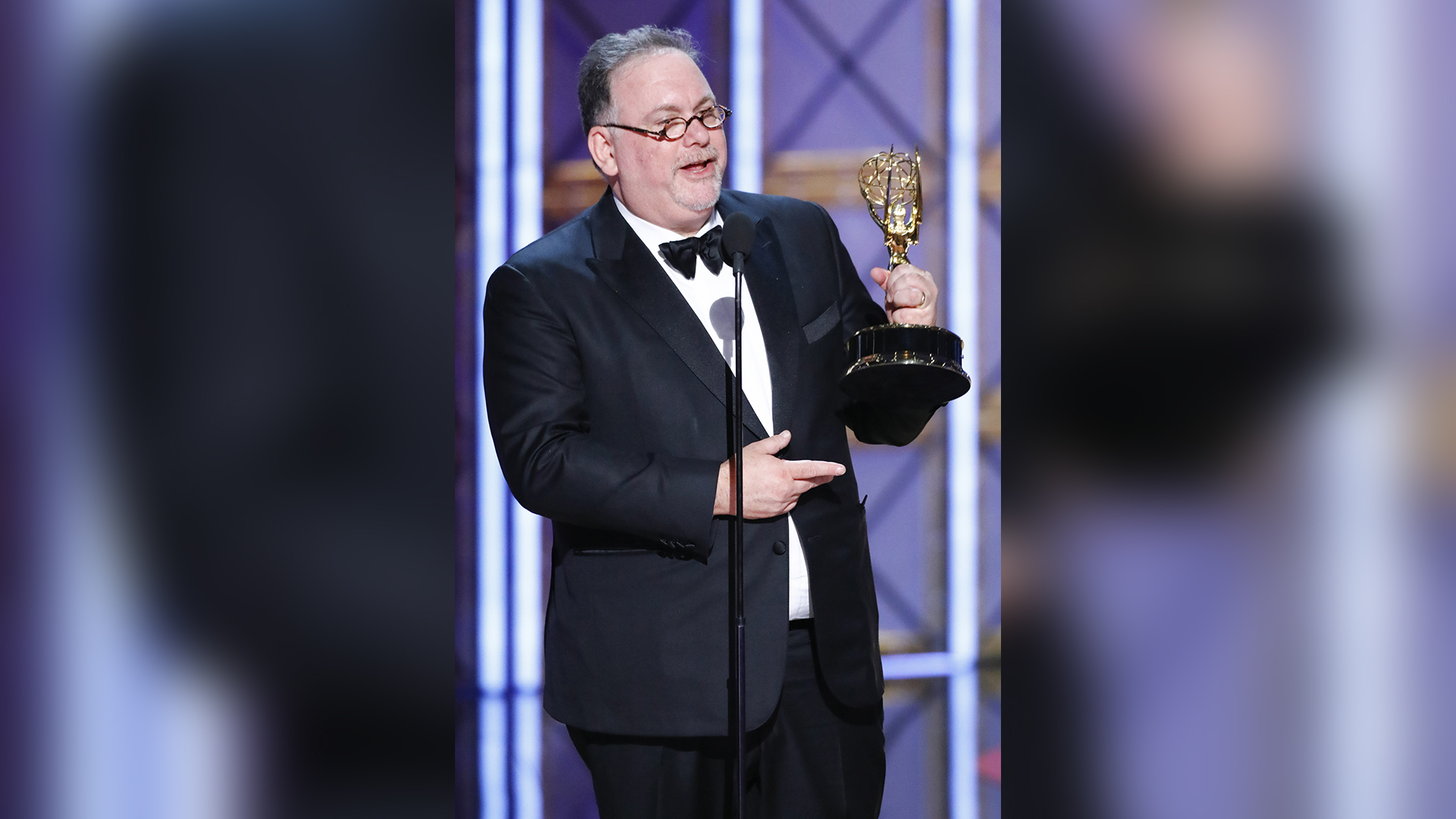 Bruce Miller wins Outstanding Writing for a Drama Series at The 69th Emmy Awards.