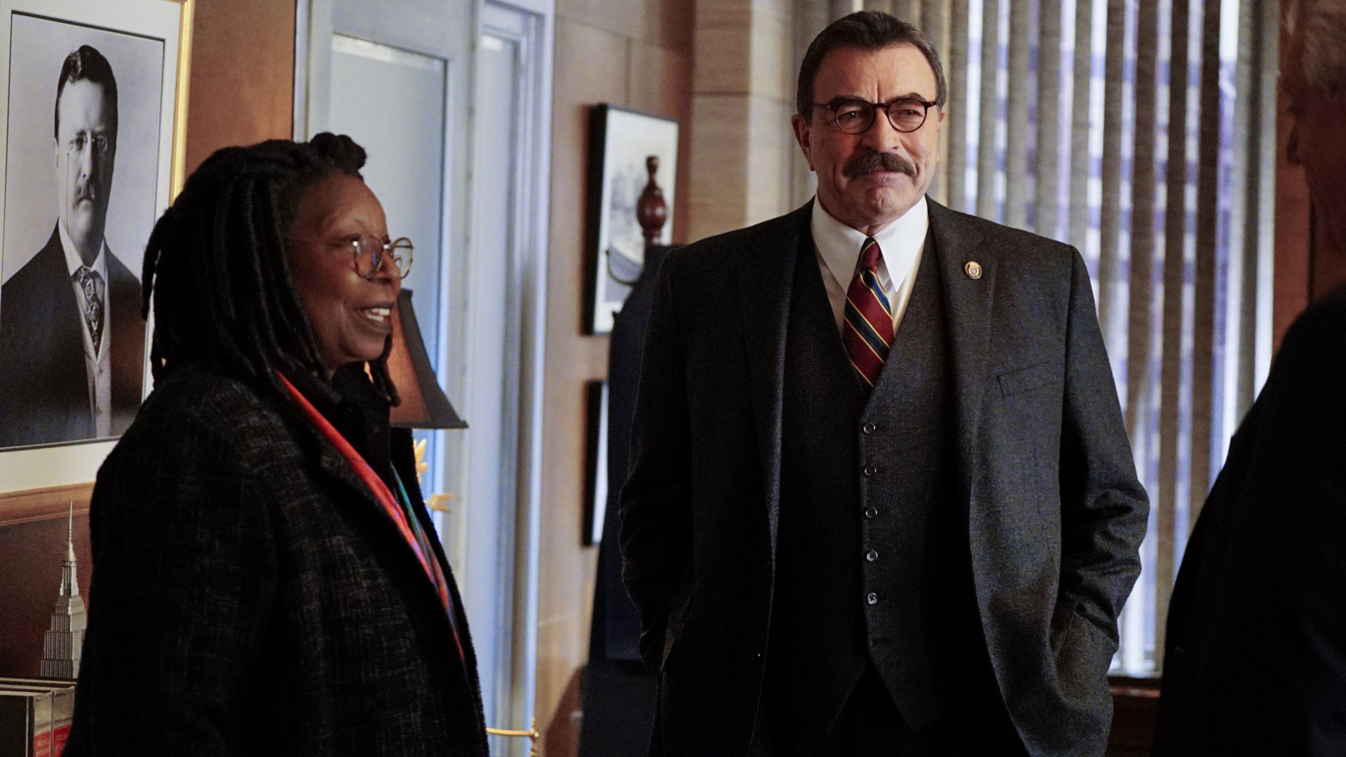 Whoopi Goldberg as City Council Speaker Regina Thomas and Tom Selleck as Frank Reagan