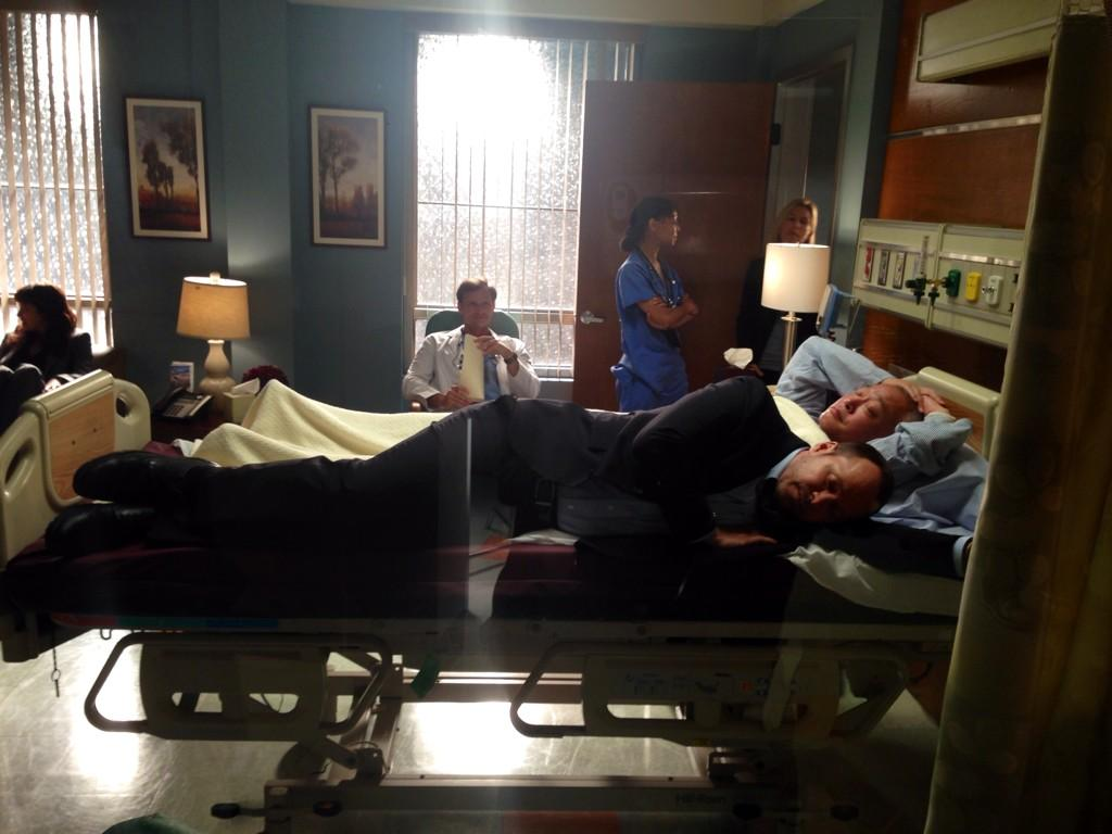Donnie Napping on Set After His Wedding Weekend