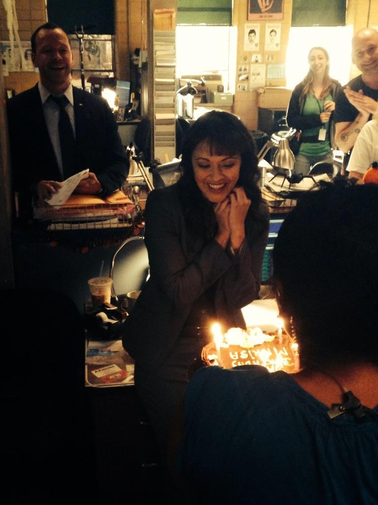 Marisa Ramirez Celebrates Her Birthday On Set