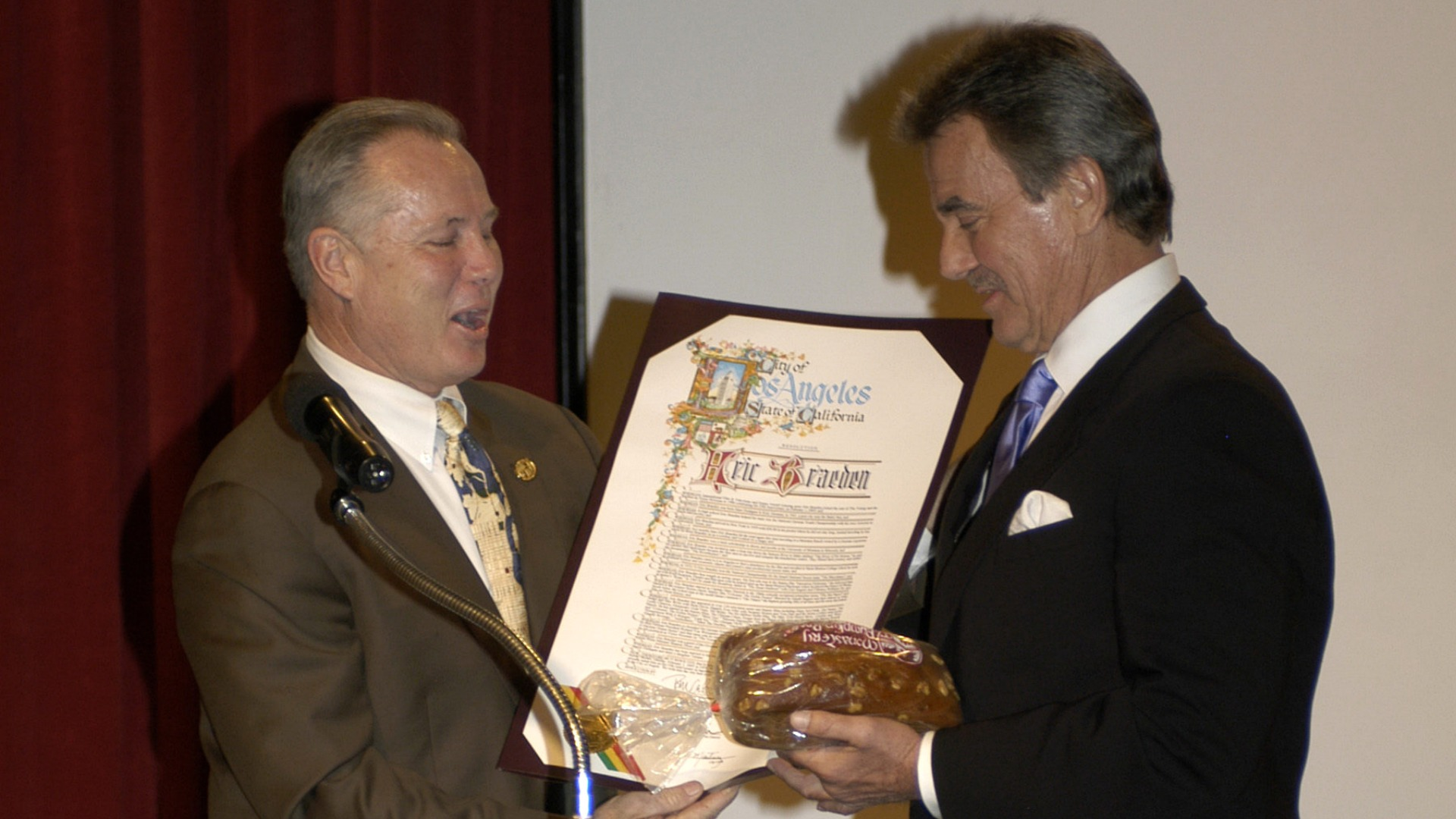 Eric Braeden is honored by the City of Los Angeles.