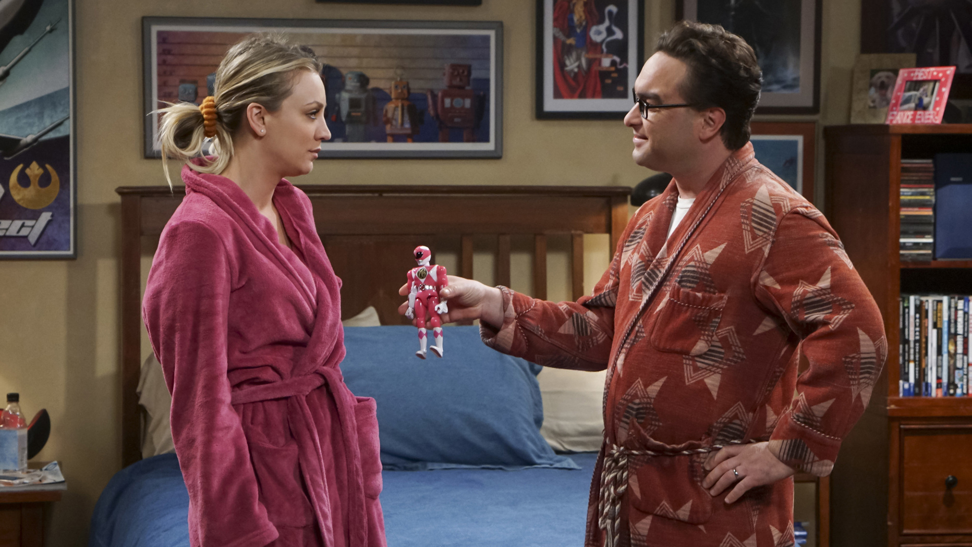 Leonard gifts Penny with her own action figure.