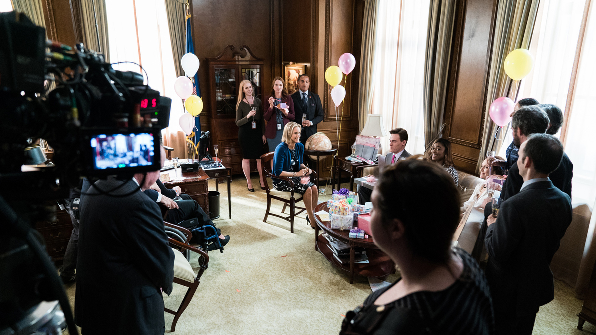 It takes a village—and a couple of cameras, of course—to shoot Madam Secretary.