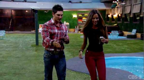 Caleb and Amber go on a backyard date.