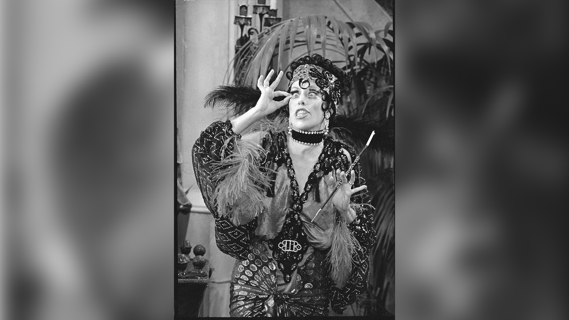 Carol Burnett playing silent film actress Nora Desmond.