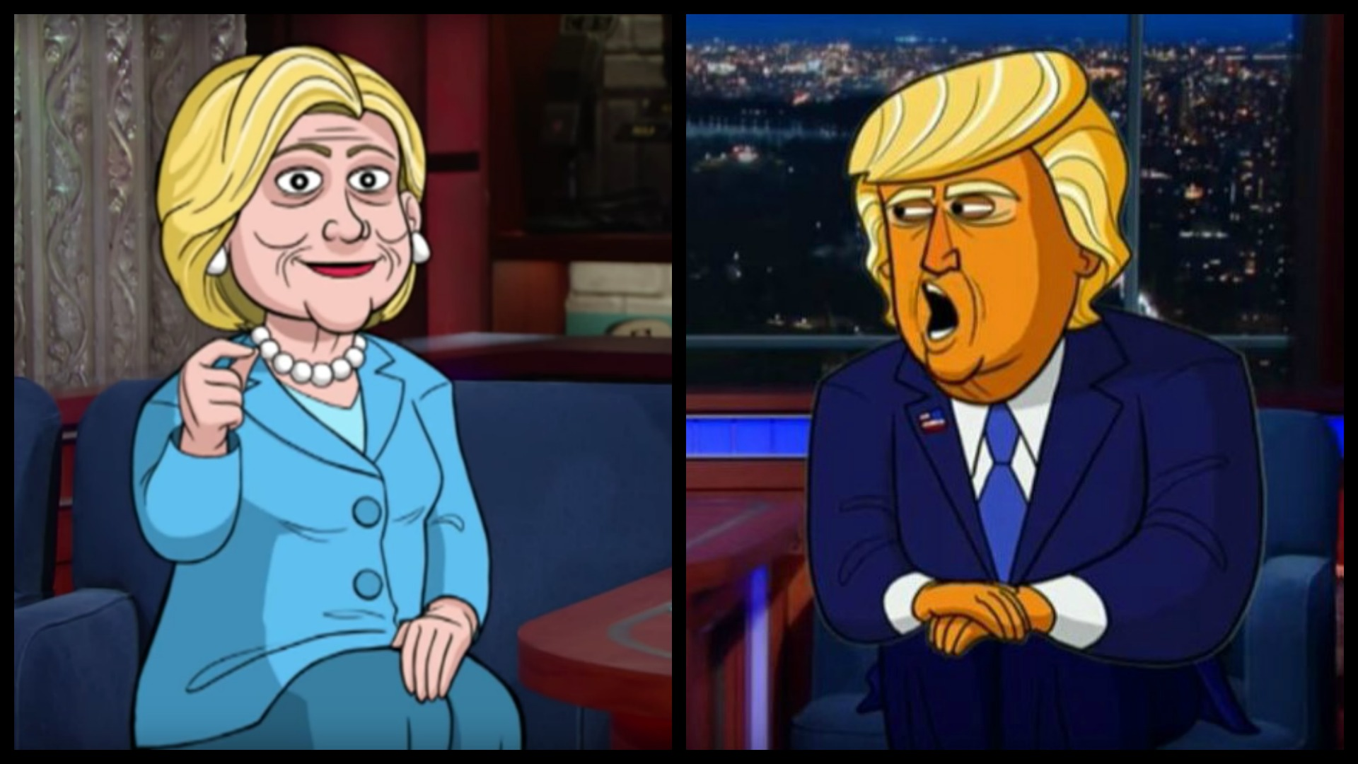 Can you tell the difference between the cartoons and the candidates?