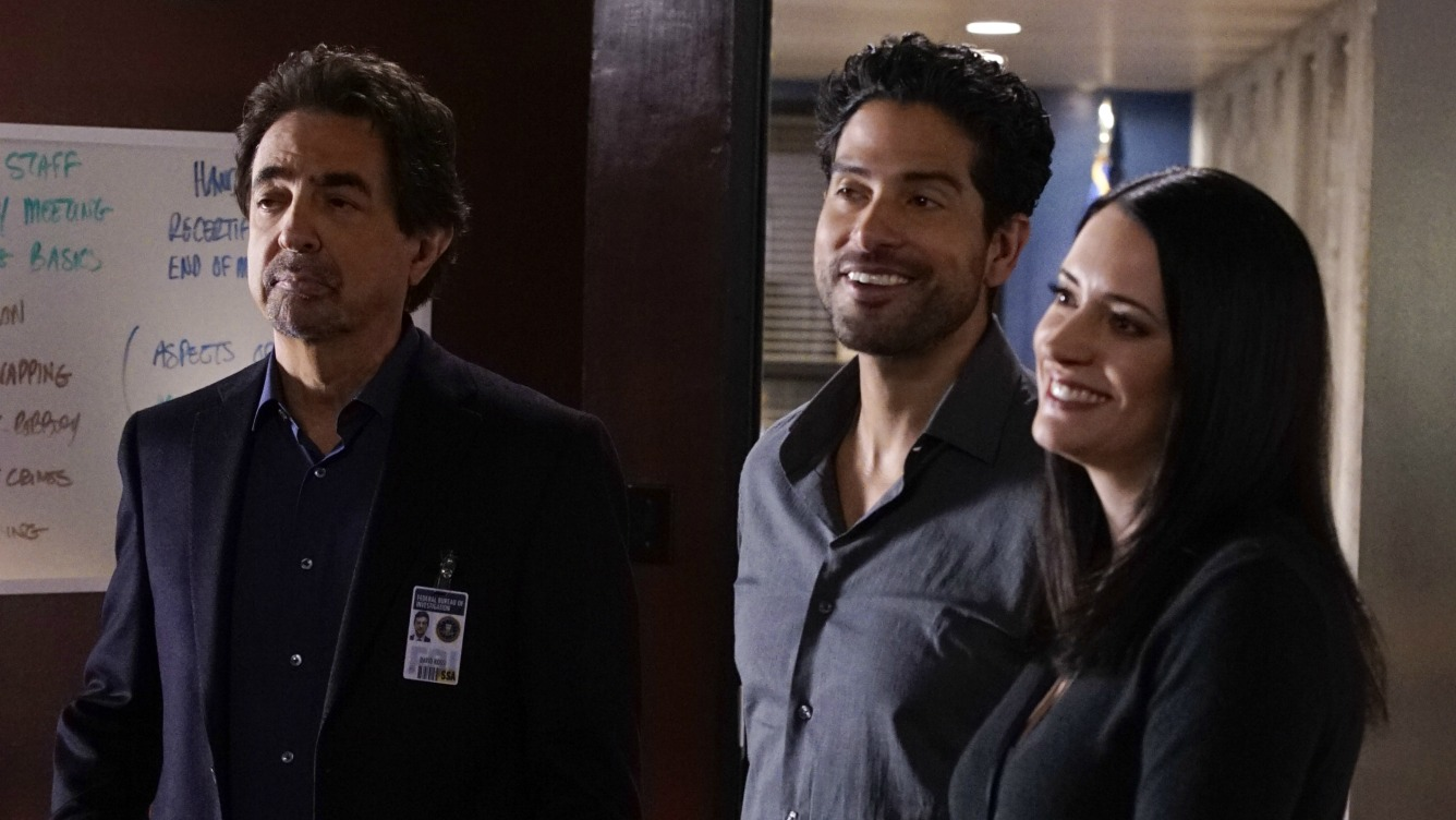 Rossi, Alvez, and Prentiss gather in the conference room.