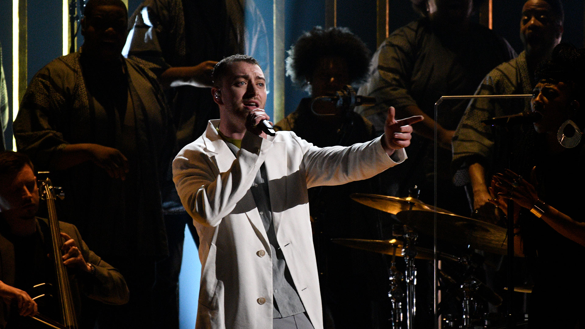 Sam Smith performs his powerful single