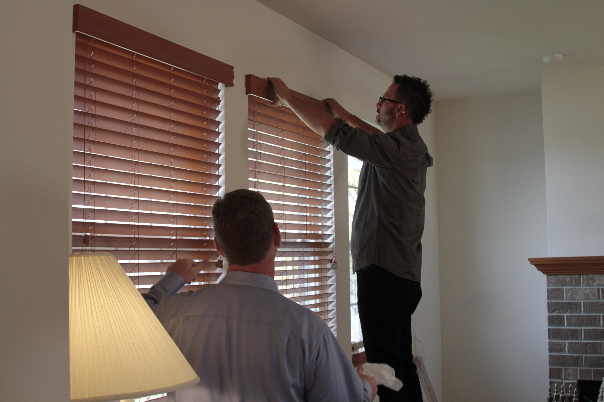 Chad and Keith Hanging Blinds