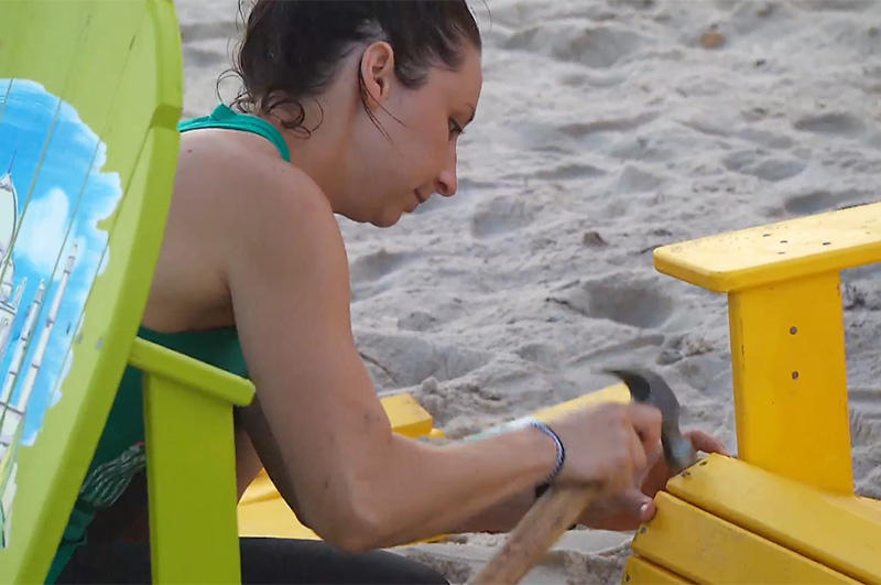 5. Life's a beach... until you're stuck assembling adirondack chairs.