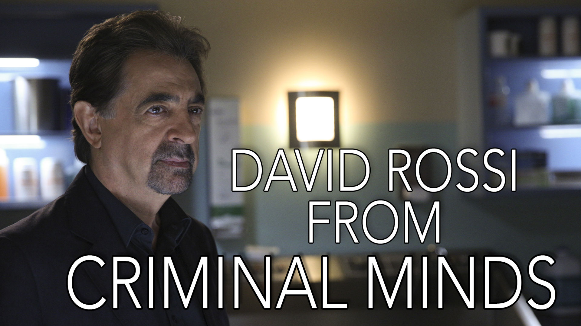 It's a line said by David Rossi on Criminal Minds!