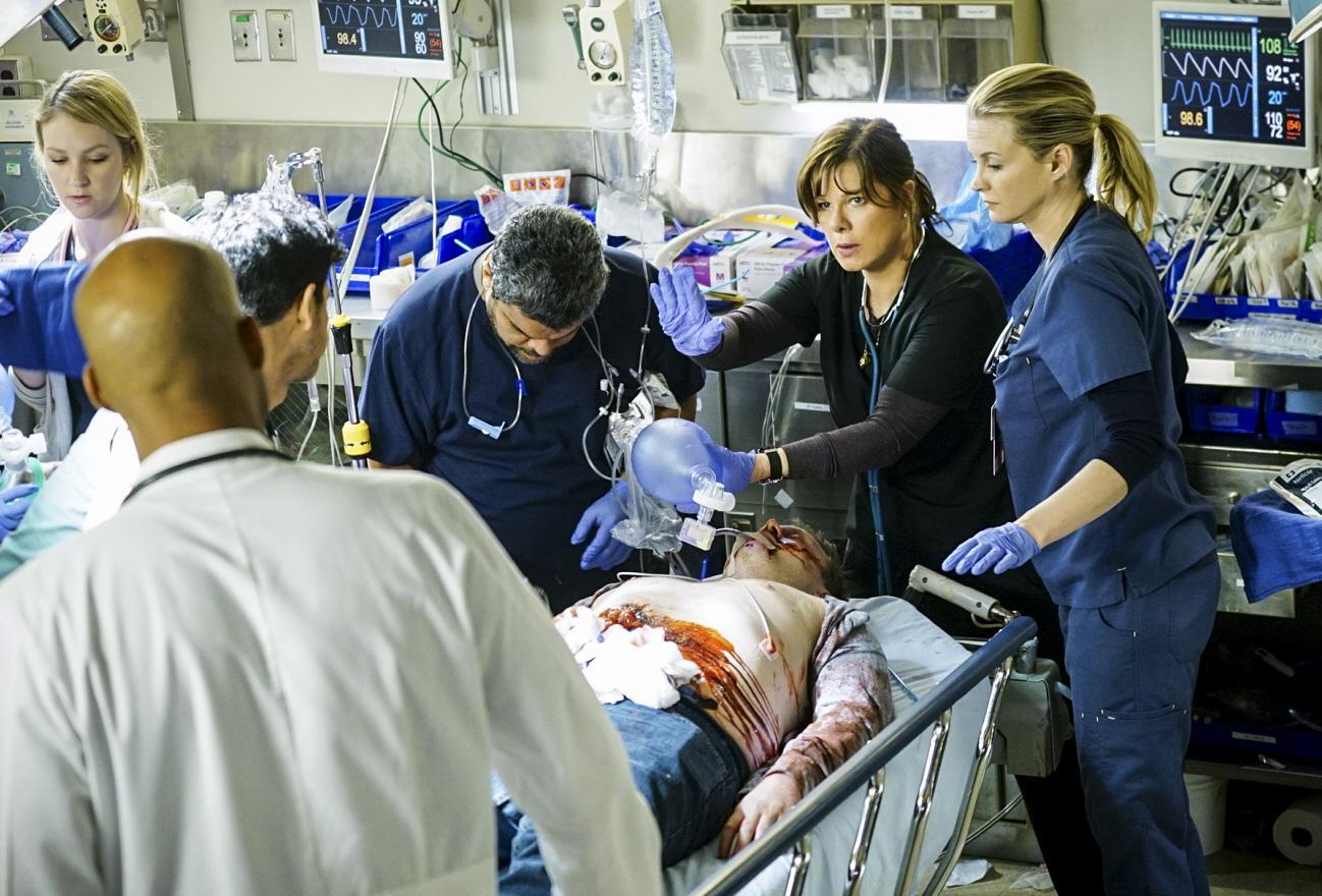 Luis Guzmán as Jesse Sallander, Marcia Gay Harden as Dr. Leanne Rorish, and Bonnie Somerville as Dr. Christa Lorenson