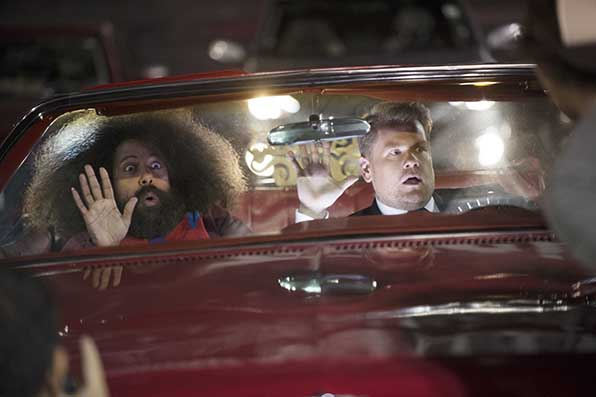 James Corden and Reggie Watts crash the show.