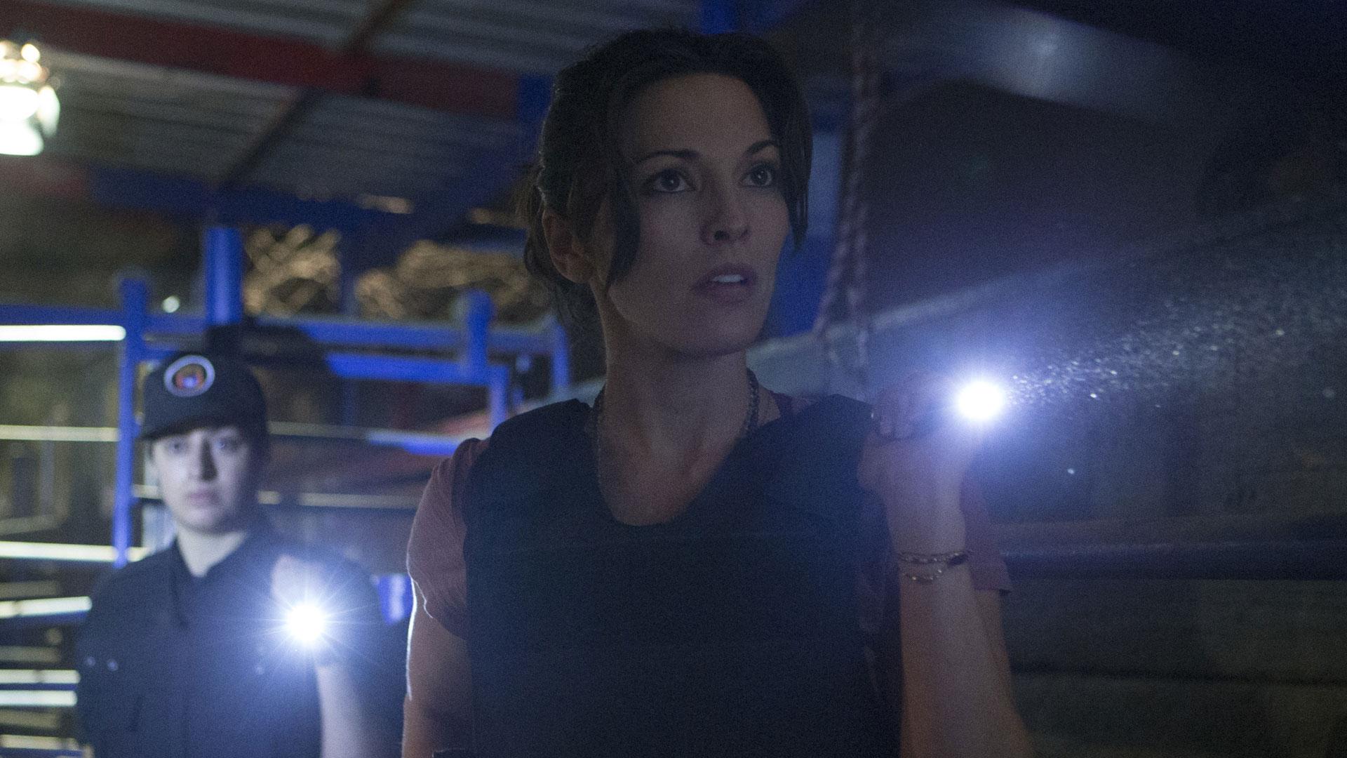 Clara Seger investigates the area.