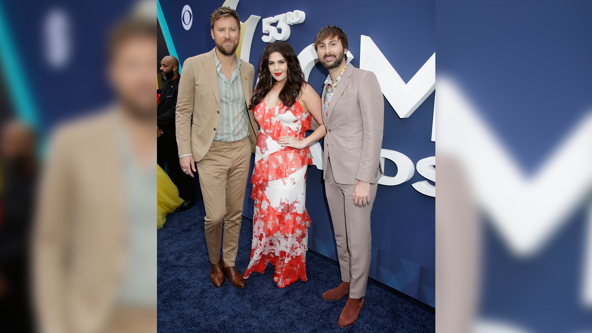 Lady Antebellum take a stroll down the ACM red carpet before their performance of
