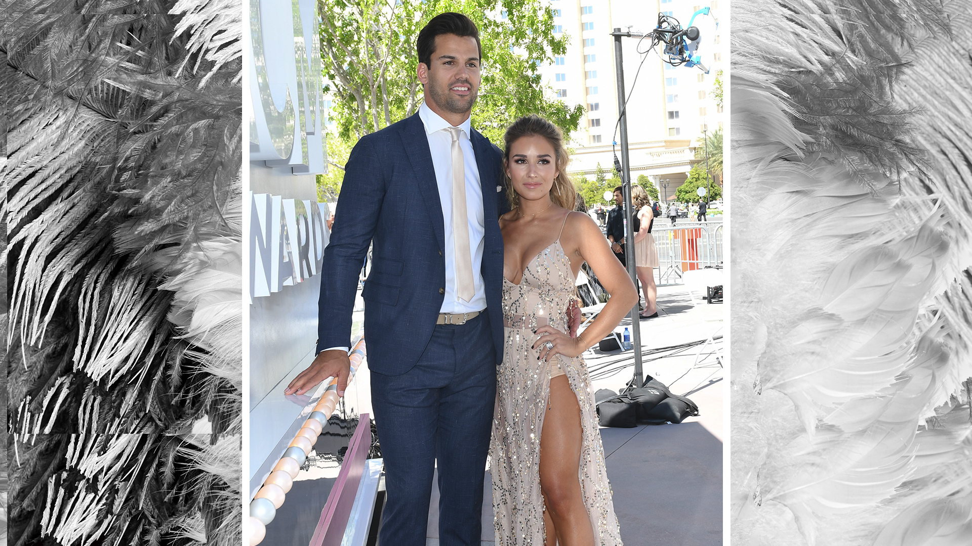 Singer Jessie James Decker cozies up with hubby and New York Jets wide receiver Eric Decker.