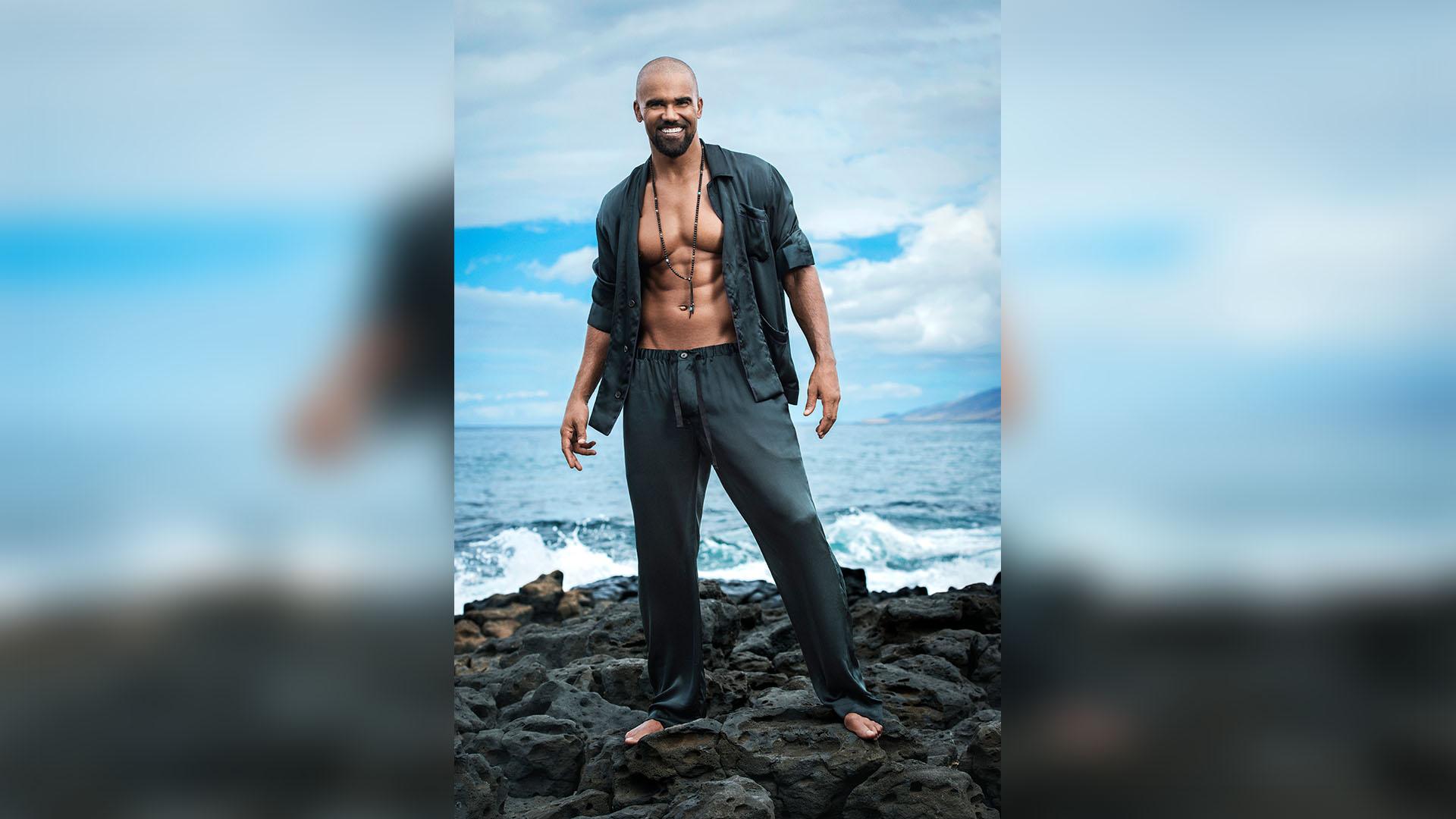 Shemar + silk pajamas = swoon