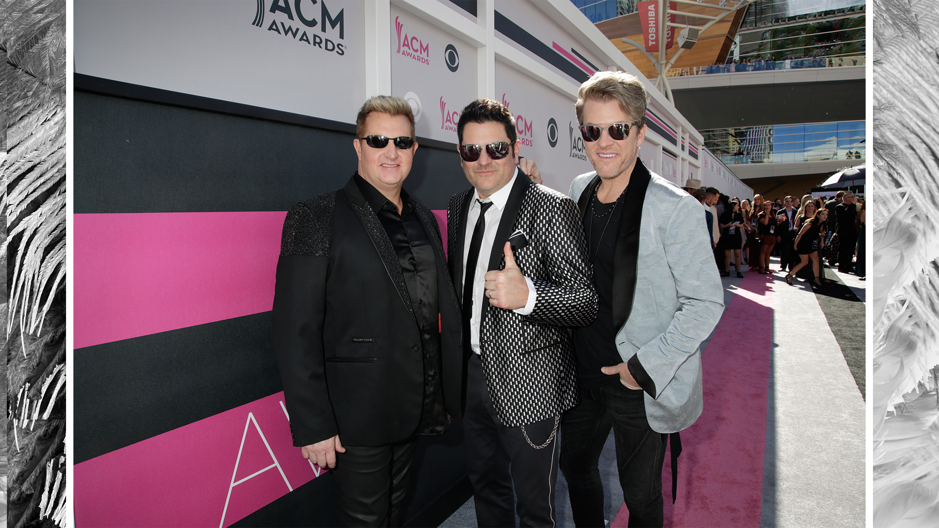 Rascal Flatts give the 52nd ACM Awards a thumbs up.