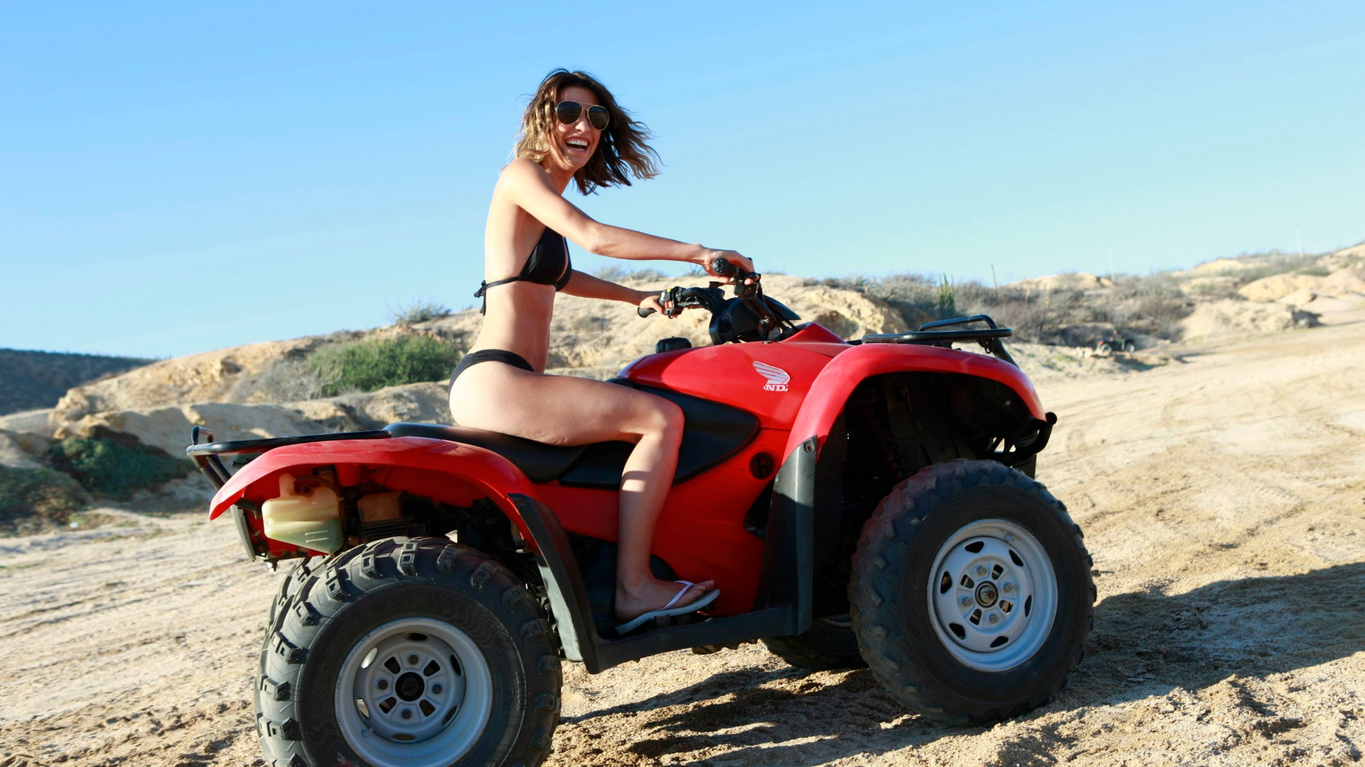 Jacqueline MacInnes Wood hopped on a four-wheeler in sunny Cabo San Lucas, Mexico.