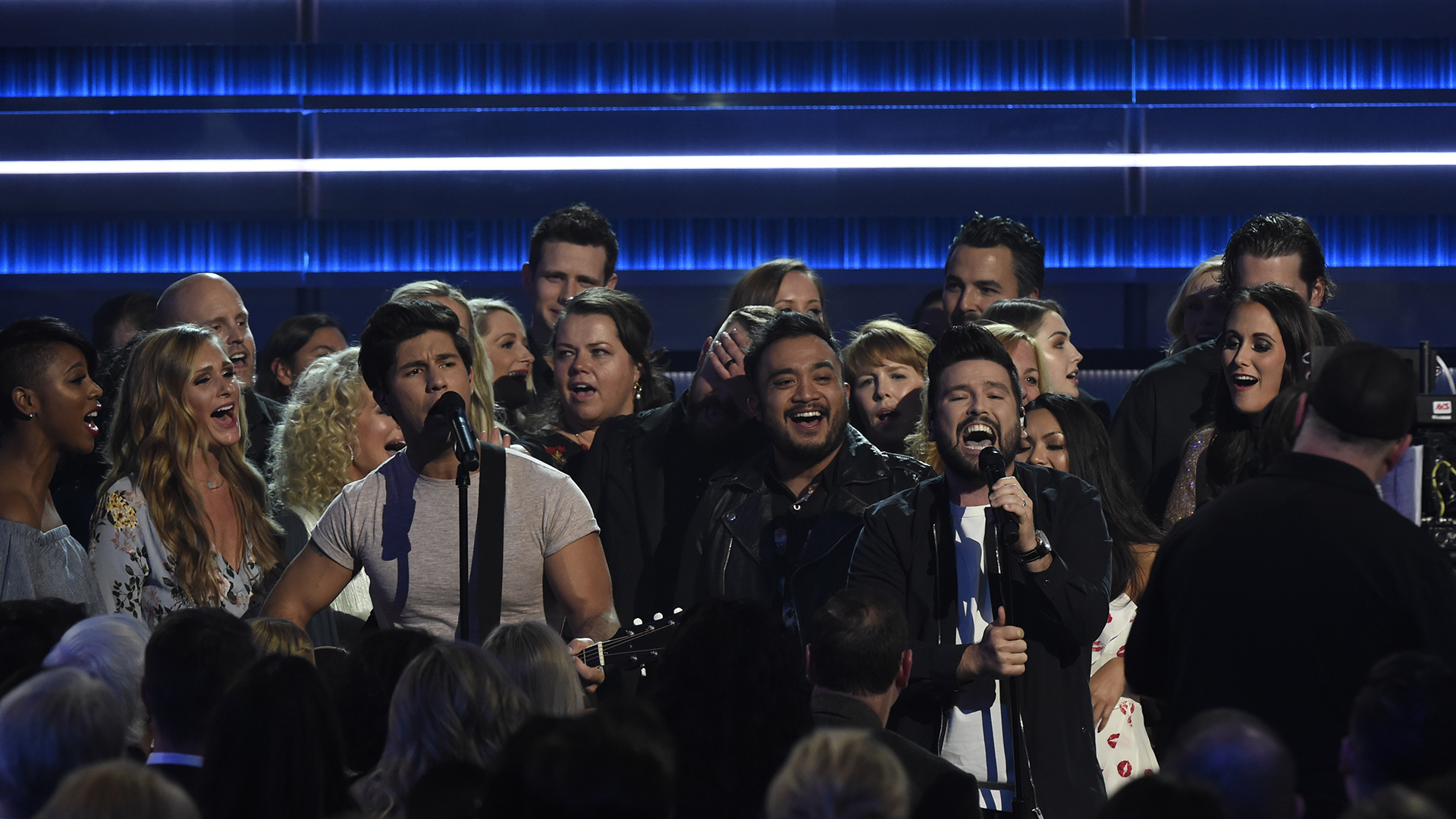 Dan + Shay perform a sing-along acoustic version of their hit