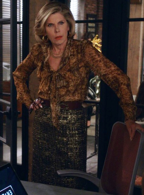 7. I am completely in love with this blouse and skirt combination on Diane.