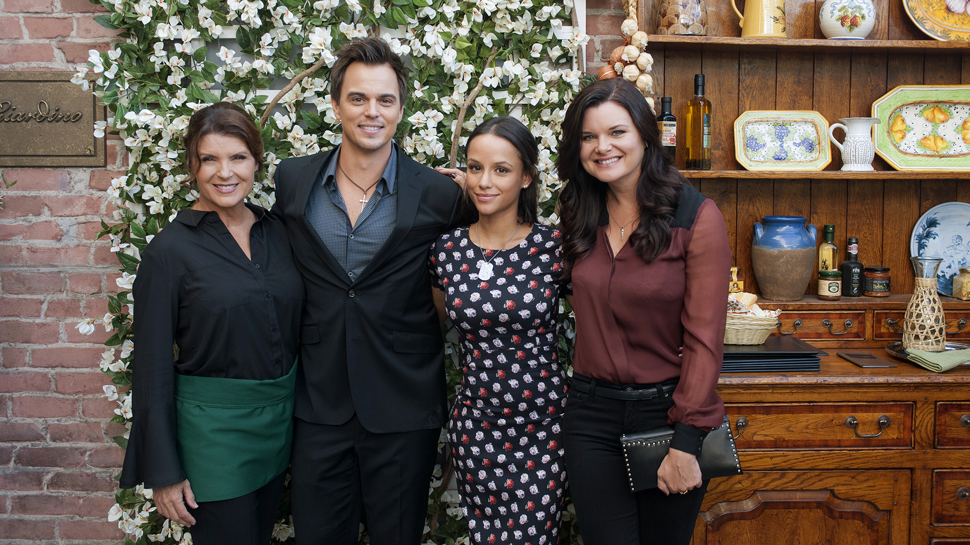Jessica Graf with The Bold and the Beautiful actors Kimberlin Brown, Darin Brooks, and Heather Tom.