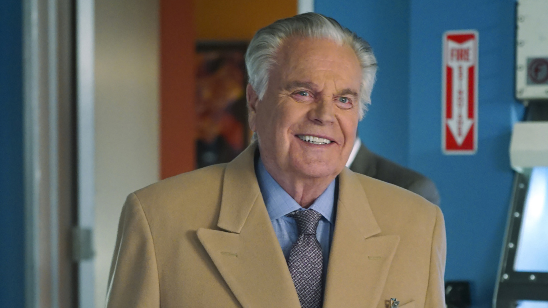 DiNozzo, Sr. looks happy to be back at NCIS HQ.