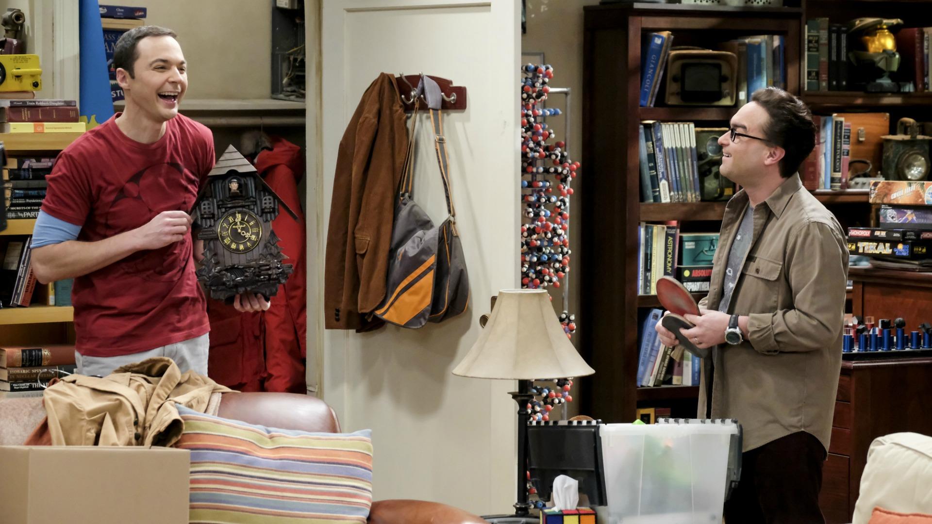 Sheldon stumbles upon the Spock Clock.