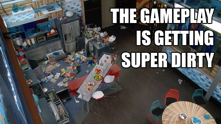 The Houseguests completely destroy their party pad.