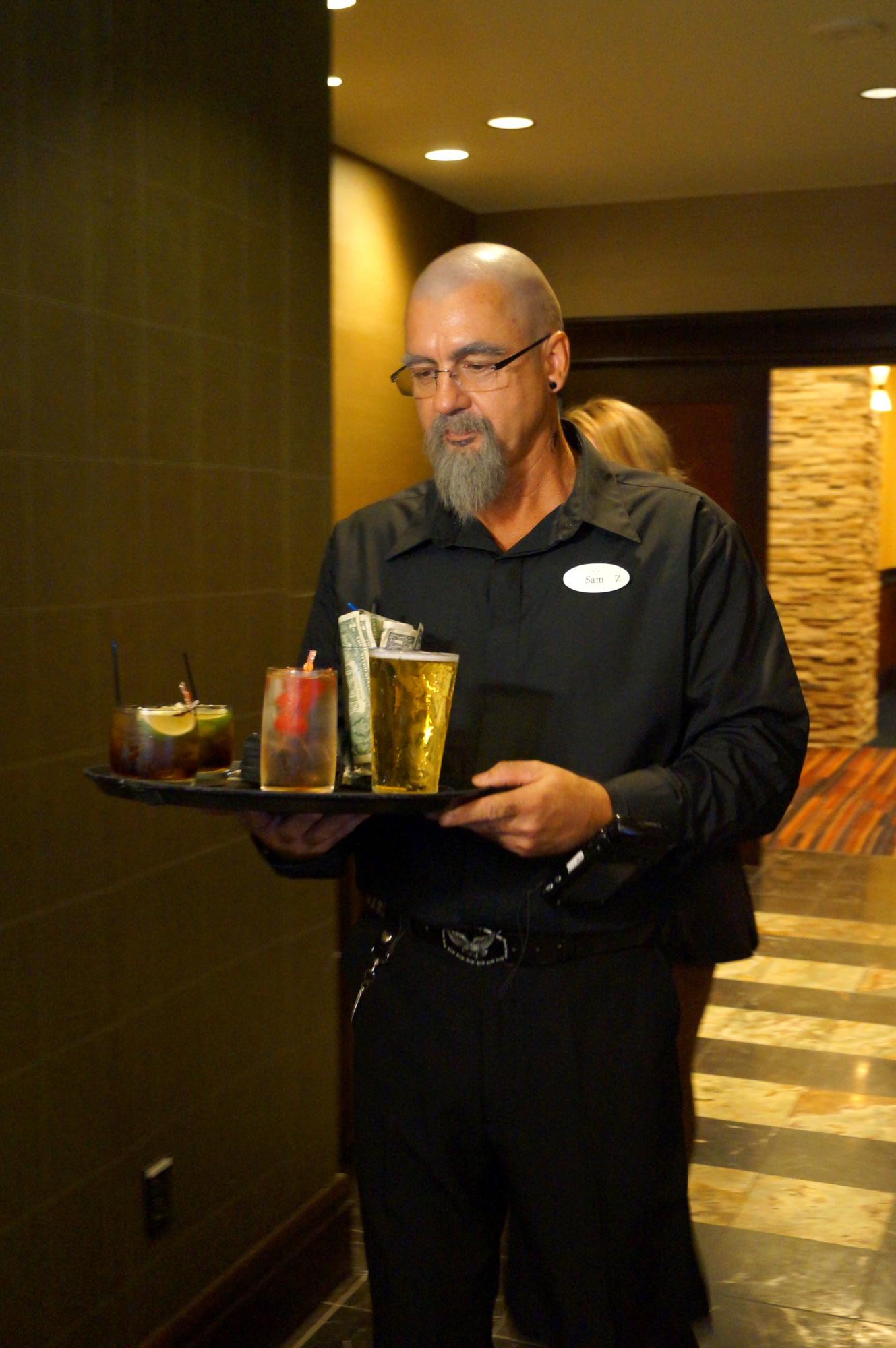 Serving drinks in Season 5 Episode 11