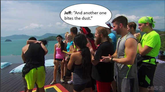 Jeff keeps it real like any bachelor would.