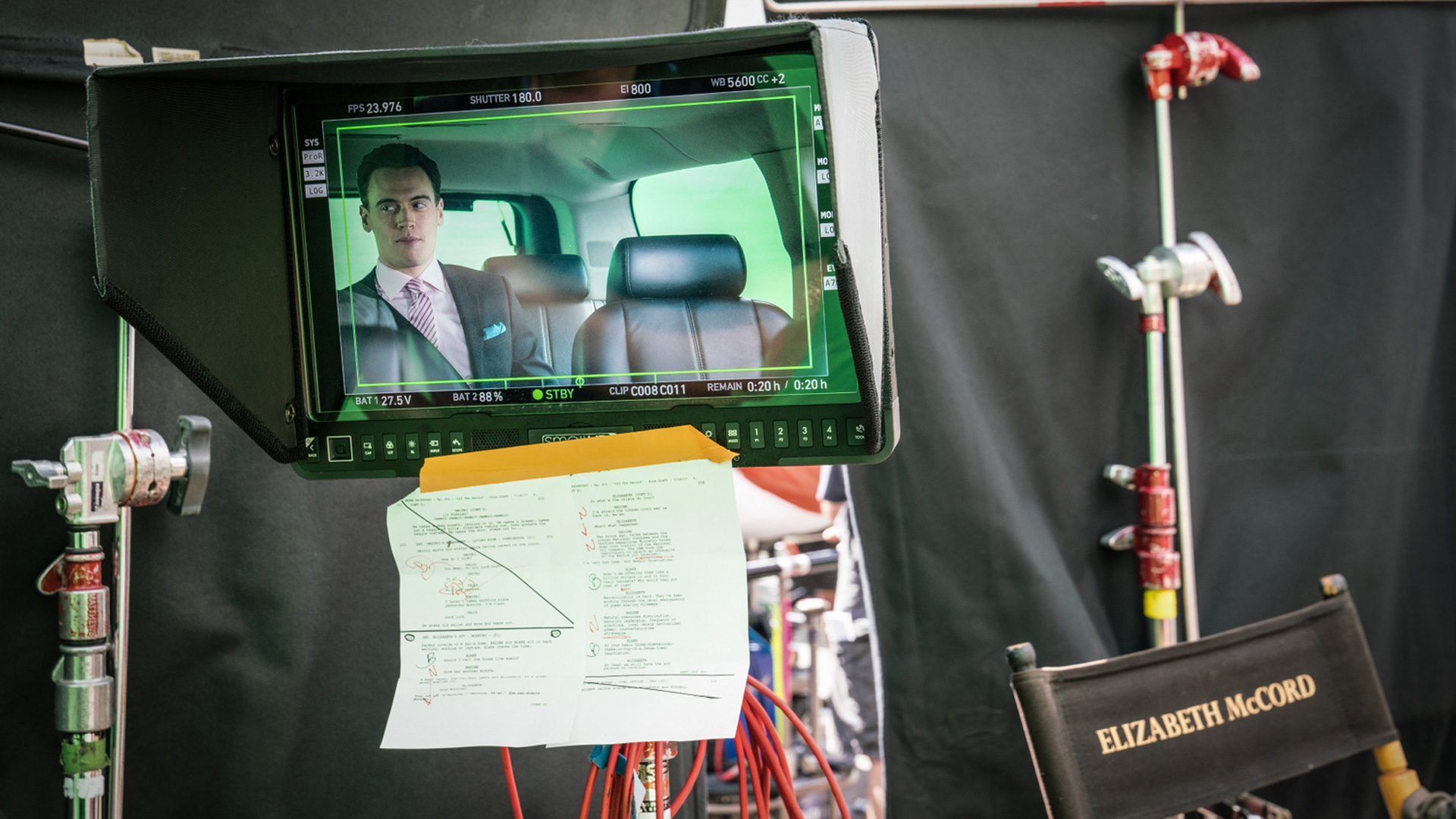 Erich Bergen is Blake Morgan in this on-camera shot.