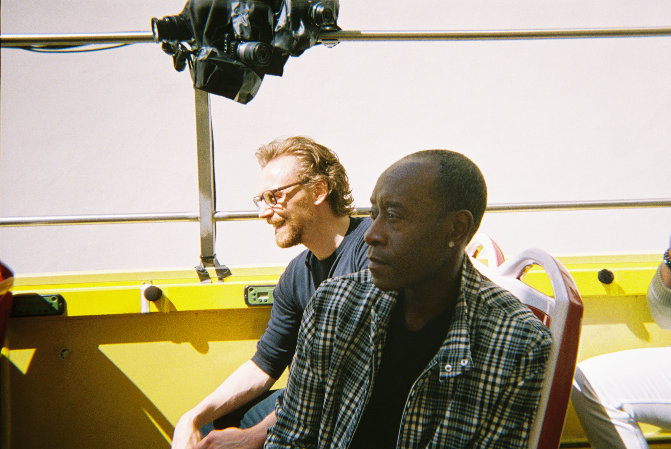 Tom Hiddleston and Don Cheadle