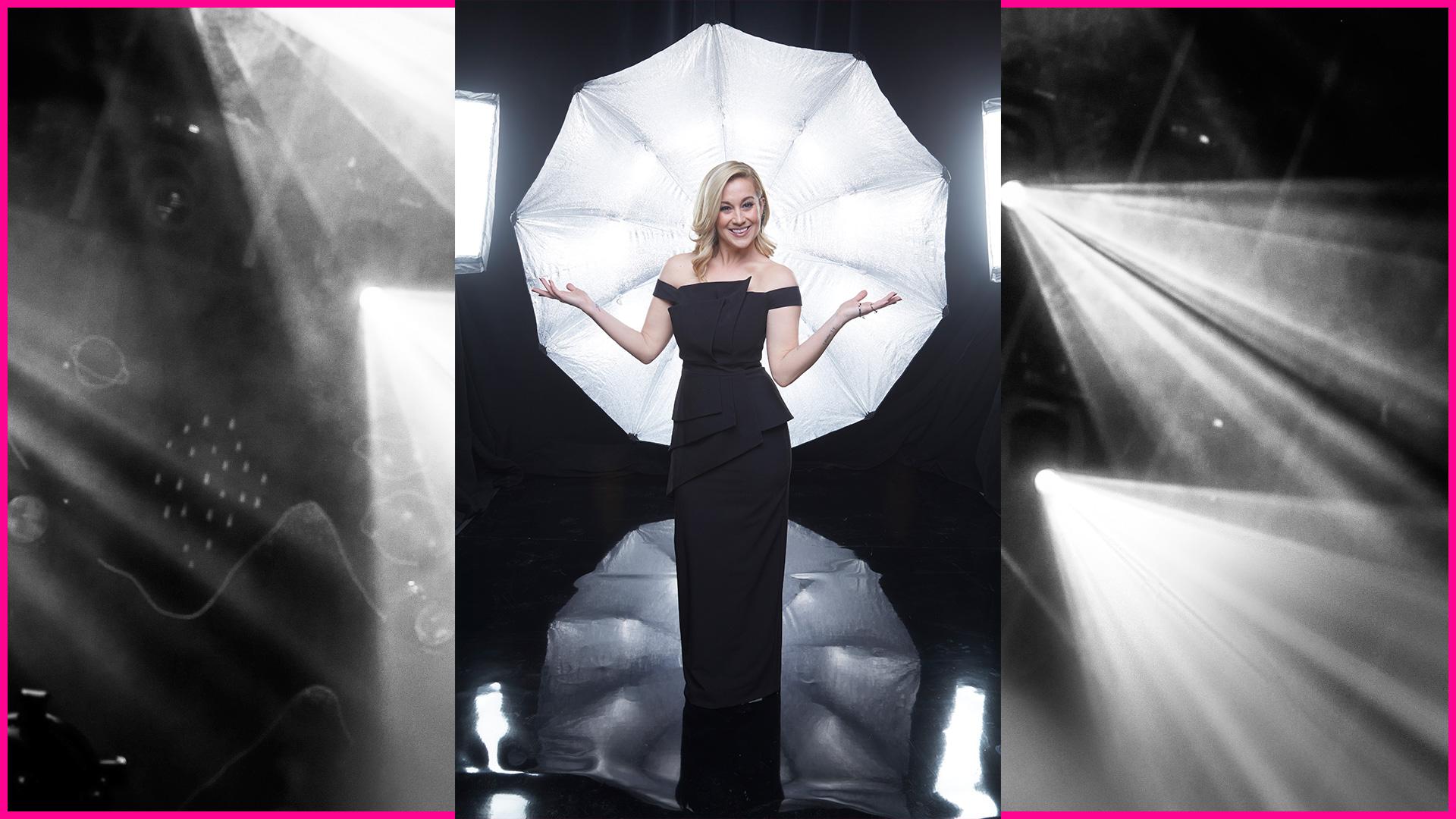 Kellie Pickler dons a sleek black evening gown deserving of its own celebration.