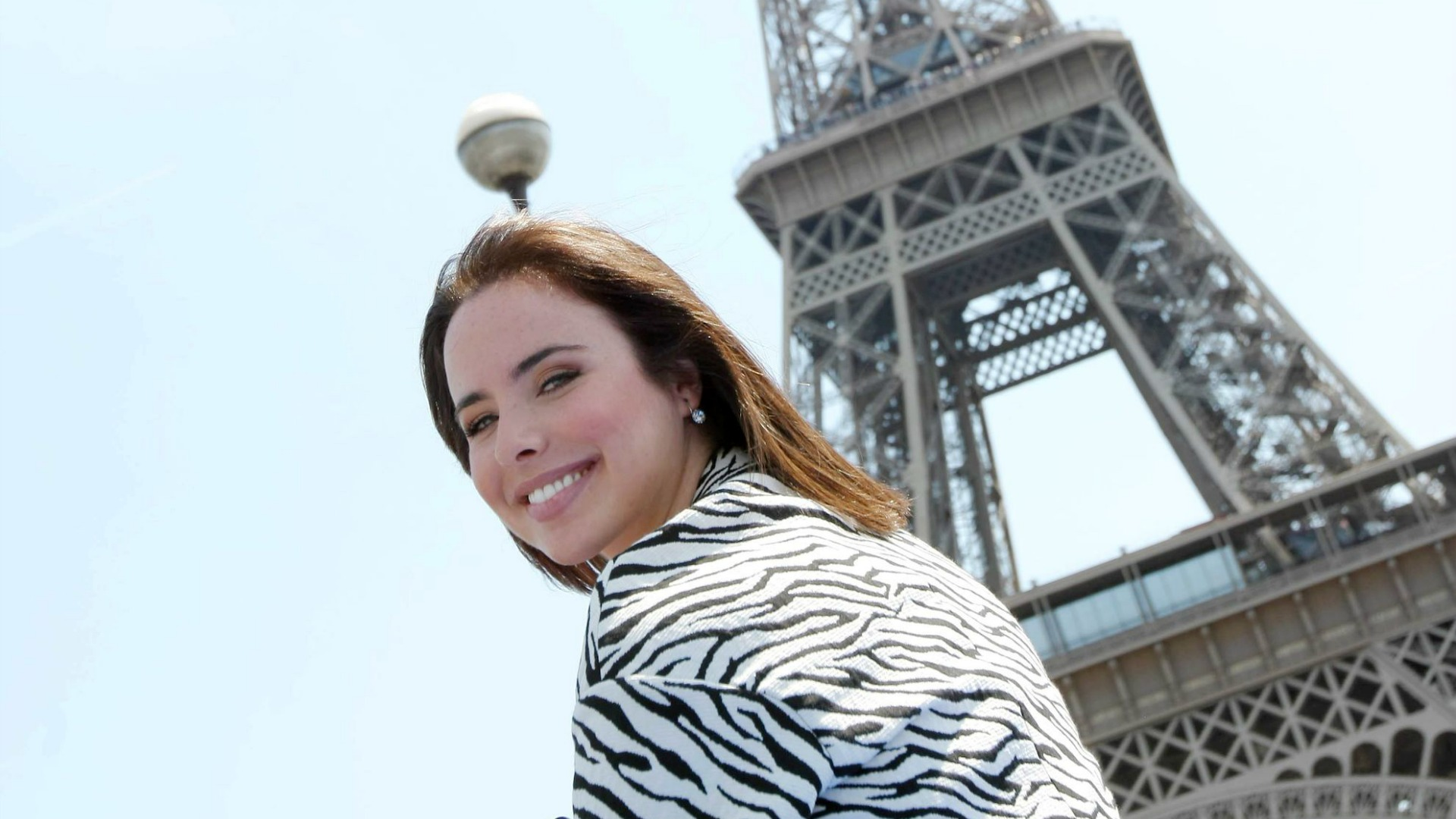 Ashleigh Brewer beamed while visiting the City of Love.