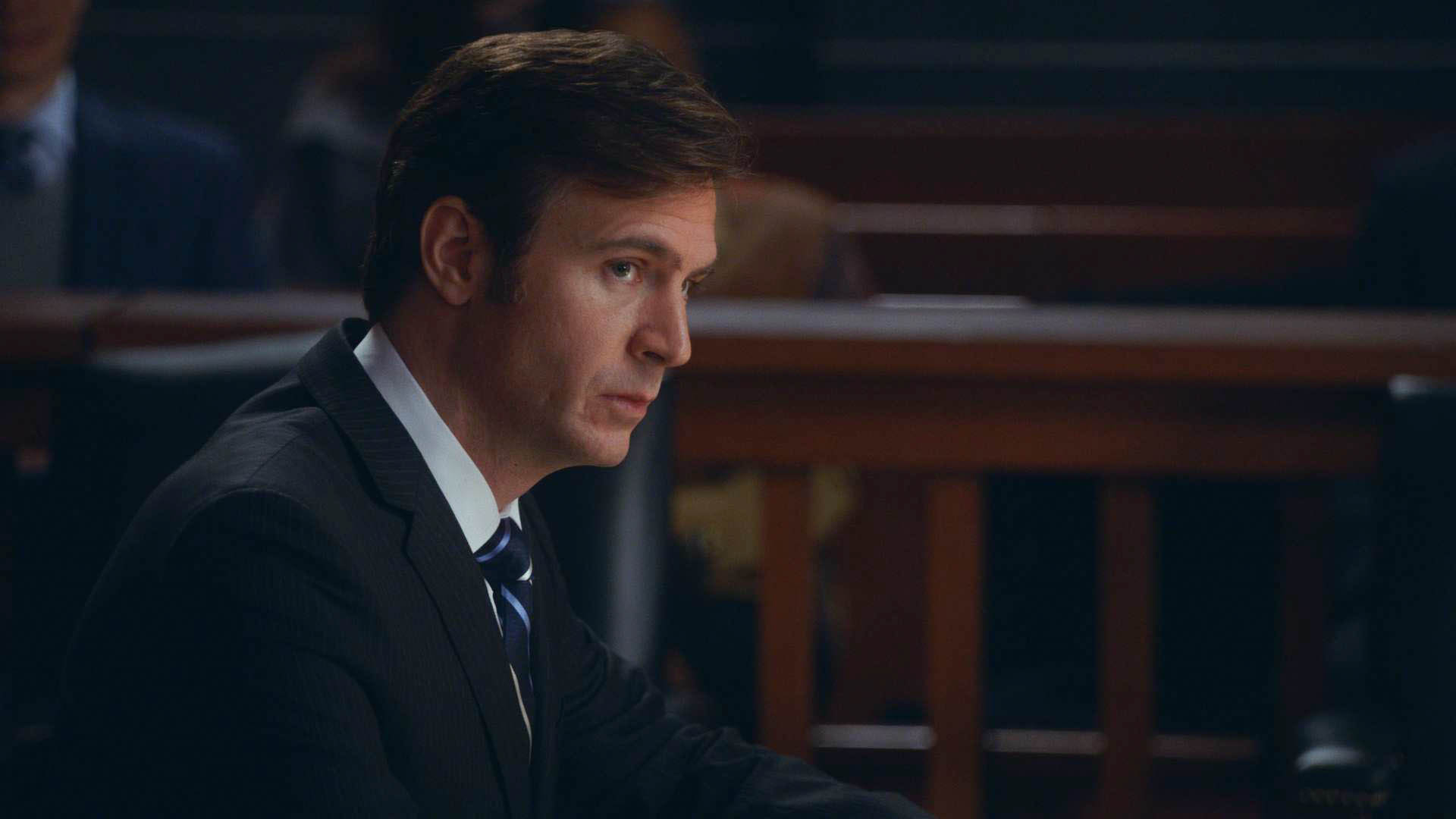Jack Davenport as AUSA Frank Asher in 'Parallel Construction, Bitches
